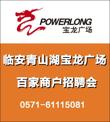 临安青山湖宝龙广场(百家商户招聘会)